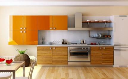 Кухни в стиле Модерн из массива и шпона
