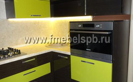 Современные кухни с пленочными фасадами