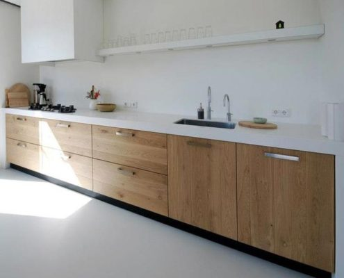 Современная кухня из МДФ и пластика