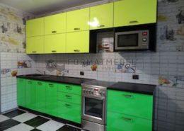 Яркий, зеленый кухонный гарнитур