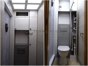 Встроенный шкафчик в санузел