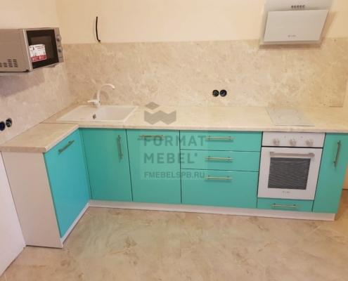 Низ кухни. Очень нежный и приятный цвет. Эмаль RAL.