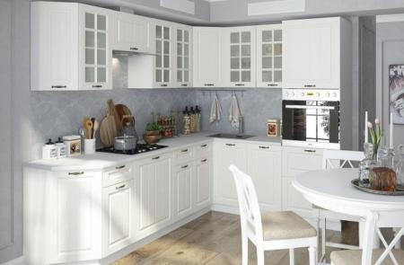 кухня мдф белый